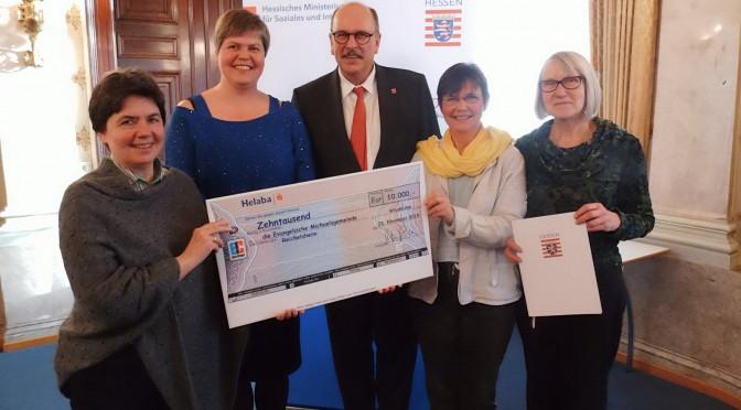 Auszeichnung durch das Hessische Sozialministerium